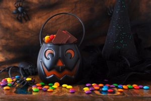 Halloween candy bucket chocolate